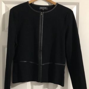 Jones New York sweater jacket in black. Size PM.